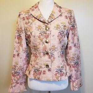 Banu Paris   pink floral vintage blazer